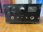 1942 Wwii Hallicrafters Bc-614-i Speech Amplifier Tube Microphone Preamp As Is