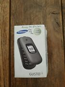 Samsung Gusto 2 Flip Phone Cell Phone Gray Factory Sealed - Read 30