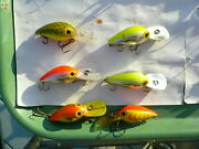 Lot Of 6 Storm Wiggle Wart Pre Rapala Fish Or Re-paint All Have Minor Wear