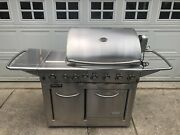 Stainless Grill With Built-in Oven, Side Burner, Infrared Searing, And Rotisserie.
