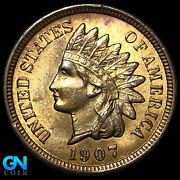 1907 Indian Head Cent Penny -- Make Us An Offer K9676