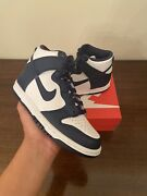 Nike Dunk High Midnight Navy Gs Size 4y In Hand Ships Today