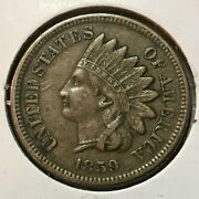 1859 Xf Indian Head Cent One Year Type