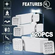 120 Pack Led Emergency Exit Light Adjustable 2 Head With Battery Back-up Ul 924