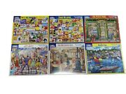 White Mountain Puzzles 1000 Pieces Lot Of 6
