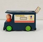 Vintage Durham Industries Roll-along Us Mail Truck Item 1720 Made In Hong Kong