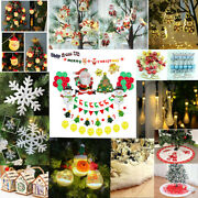 Christmas Decorations For Tree Wreath Garland Wall Xmas Home Party Decor Ornamen