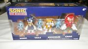 Sonic The Hedgehog Sonic Tails Knuckles And Chao Action Figures Brand New