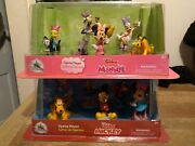 Disney Junior Mickey Figurine Playset Mickey Mouse Clubhouse Minnie Lot Of 2 New