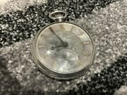 Stunning Antique Solid Silver And Gold Dial Key Wind Fusee Pocket Watch