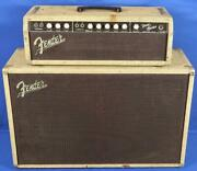 Vintage 1962 Pre-cbs Fender Usa Bandmaster Brownface Amplifier Amp And 2x12 Cab