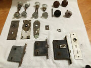 Large Lot Of Antique Doorknobs And Locks Deadbolt A Great Deal Multi Color