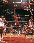 Horace Grant Chicago Bulls Autographed 16 X 20 Shot In Red Photograph