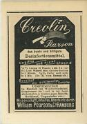 Antique German Aceo Size Creolin Pearson Disinfectant Advertisement Old Print