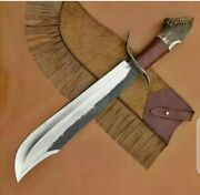 New Custom Made Carbon Steel Hunting Bowie Knife, Antler Stag Horn Handle