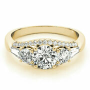 14k Solid Yellow Gold 1.50 Ct Diamond Engagement Anniversary Ring Size 4.5 6 7 8