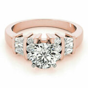 14k Solid Rose Gold 1.50 Ct Diamond Engagement Anniversary Ring Size 4.5 6 7 8.5