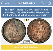 1876-cc Carson City Silver Seated Liberty Dime Pcgs Ms62 F-123 Pop 1 None Higher
