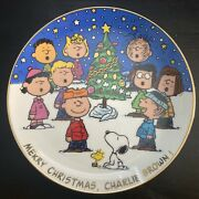 Danbury Mint Peanuts Magical Moments Merry Christmas Charlie Brown Plate D5176