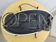 Vintage Evertron Everlite Neon Open Business Sign Size 22x 13