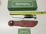 Remington Rh-134 Vintage Hunting Knife W/sheath-box Pre Owned Never Used