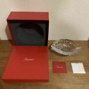 Baccarat Equinox Tray Ashtray Crystal Glass Accessory Case Clear Color Display