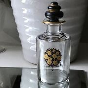Rare Old Baccarat Bouquet Perfume Bottle Flacorn Crystal Glass France Antique
