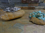 1 Navajo Thunderbird Whirling Log Arrow Silver Brooch Pin Old Pawn Fred Harvey