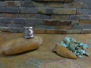 Sz10.5 Huge Thick Navajo Whirling Log Arrow Sterling Ring Native Old Pawn Harvey