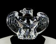 Steuben Glass Signed 8496 Eagle Lloyd Atkins 4 3/8 Figurine / Paperweight 1984