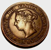 Old Canadian Coins 1876 H Canada High Grade Large Cent