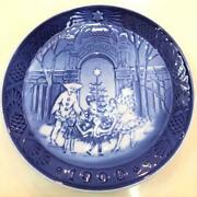 Royal Copenhagen Christmas 1990 Year Plate Pottery Decorative Picture