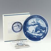 Royal Copenhagen 2010 Edition Year Plate Christmas In Greenland Porcelain