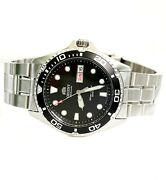 Orient Men's Watch Ray Raven Ii Automatic Faa02004b9 Divers 20 Atm Ip Silver New