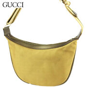Last Shoulder Bag One Women 's Sherry Line Gold Brown Previously No.1789