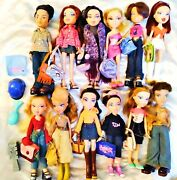 Huge Lot 12 Bratz Dolls - Lots Of Accessories - Fully-clothed - Loose Dolls S-4