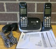 Panasonic 6.0 Plus With Two Kx-tga652 Handsets, 2 Wall Plugs And Instruction...