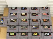 Nintendo Snes Game Lot 21 Games Authentic Earthworm Jim 2 Star Wars Trilogy More