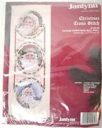 Father Christmas Bell Pull 125-34 Counted Cross-stitch Kit By Janlynn New