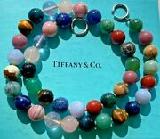 And Co. Multi Gemstone Gems Bead Sterling Silver Necklace Paloma Picasso
