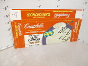 Campbell's 1970s Clam Chowder Soup Vintage Frozen Food Box Tv Dinner