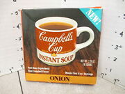 Campbell's 1970s Onion Condensed Instant Soup Cup Vintage Food Box Tv Dinner