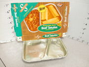 Swanson 1970 Beef Tamales Mexican Tv Dinner Vintage Frozen Food Box +tray