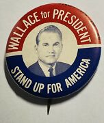 George Wallace President Campaign Button Round Political Politics 1960andrsquos