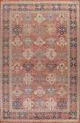 Floral Ziegler Oriental Hand-knotted Area Rug Vegetable Dye Large Carpet 10and039x15and039
