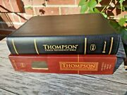 New Nkjv Thompson Chain Reference Bible Black Bond Leather Red Letter Usa Made