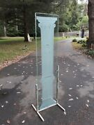 Post Modern Engraved Glass Screen With Depicting Antique Architectural Column