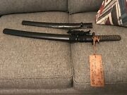 Wwii Japanese Wakashi Sword With Surrender Tag From Vetand039s Estate