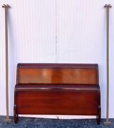 Vintage Solid Cherry Wood Full Size Sleigh Bed