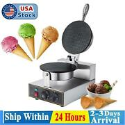 Commercial Non Stick Ice Cream Waffle Cone Baker Maker Electric Egg Roll Machine